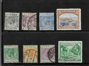 HICK GIRL- USED CYPRUS  STAMPS   VARIOUS  ISSUES         C12