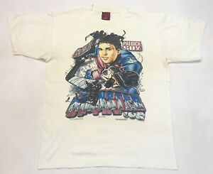 Vintage Shirt Xpolsion 1995 NHL Patrick Roy Avalanche Caricature T-Shirt White L