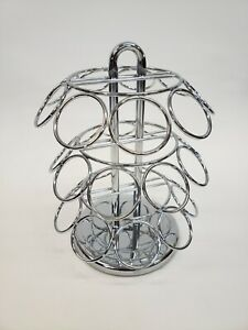 Keurig 27 Coffee Pod Holder Spinning Chrome Metal Rack