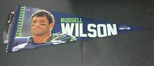 """Russell Wilson Seattle Seahawks 12"""" x 30"""" Premium Pennant FREE SHIPPING ."""