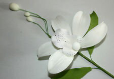 Orchid Spray, Sugar Flower, White Bosky Orchid, Cake Topper, Gum, Sugarpaste.