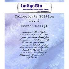 IndigoBlu French Script Collectors Edition No.2 Rubber Stamp IND0330