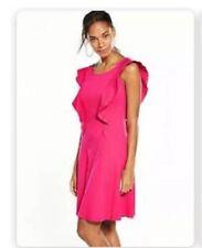 V By Very Pink Frill Dress Size 12 New