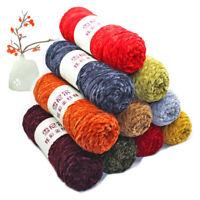 AU_ KQ_ CW_ BU_ Velvet Yarn Crochet Hand Knitting Yarn Soft Thread For Sweater S