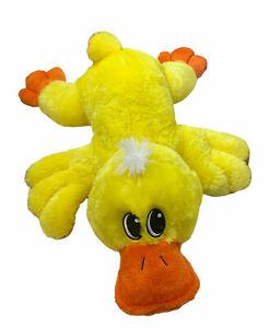 "Dan Dee Duck Plush Pillow Floppy 30"" BIG Stuffed Laying Down Easter jumbo large"