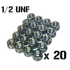 20 Shallow Slimline Open Ended Wheel Nuts 1/2 UNF Fits JEEP JAGUAR VOLVO