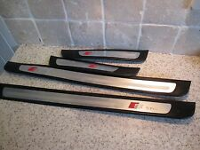 Audi A4 B8 5 portes de filons-couches step panel pied plaques lot de 4 free post s line