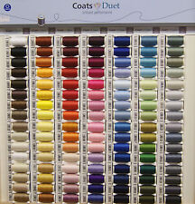 Coats Duet Sewing Thread   100% Polyester   100M   WHITE CREAMS BROWNS  