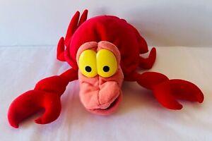 SEBASTIAN CRAB Disney Little Mermaid Ariel Plush Soft Toy VINTAGE Applause 28cm