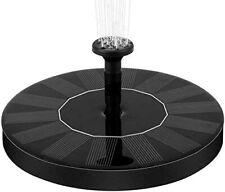 1.5W Solar Fountain Pump Garden Water Spray Head Submersible Birdbath Pond Pool