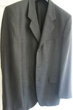 'LINEA DUE' MEN'S WOOL WORSTED JACKET 'DARK GREY' SIZE 54 (UK 44) NEW NO TAGS !