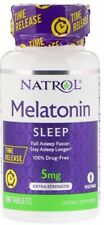 SPECIAL! 2 X Natrol 5mg Time Release 100 Tablets Calm Fall Asleep Faster Longer