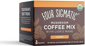 Mushroom Coffee with Lion's Mane & Chaga   Four Sigmatic   10 packets   Brain