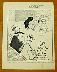 1950 Fred Neher Original Published Baseball Cartoon 9x12