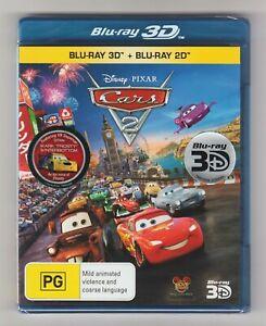 Cars 2 3D Blu-ray + Blu-ray (2-Disc Set) - Brand New & Sealed