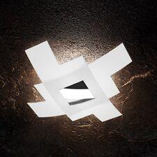 Plafoniera in vetro bianca e cromata moderna a 4 luci tpl 1121/75-CR