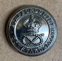 STANDARD POST 1953 POLICE UNIFORM BUTTON LARGE CHROME 24mm