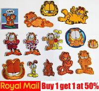 Cat Garfield Cute Dog Bear Cartoon Kids Fun Iron On Sew On Badge Patch