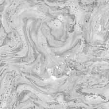 Minerals Azurite Marble Foil Wallpaper Grey/Silver