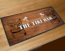 The Tiki Bar bar runner vintage wood effect style party counter mat
