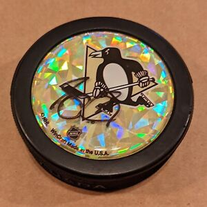 Sidney Crosby Autographed Signed Logo Hockey Puck