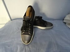 MEN'S LANVIN GREY/BLACK LEATHER/TEXTILE LACE UP SHOES SIZE UK 5 GREAT CONDITION