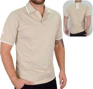 Adidas Herren Golf Polo Shirt Hemd klassisch Sport Freizeit ecru/weiß beige [M]