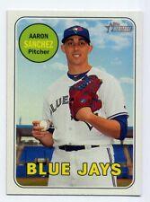2018 Topps Heritage #55 AARON SANCHEZ Toronto Blue Jays Baseball Card 1969 STYLE