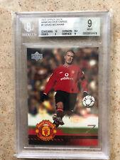 2001 Upper Deck Manchester United DAVID BECKHAM BGS 9 Mint