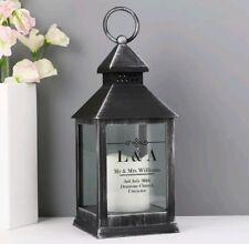 Personalised Lantern Home LED Light Candle Holder Christmas Gift Decoration