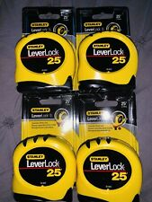 "4 Stanley 25'x1"" LeverLock Tape Rule, 30-825 Lot New 4-pack"