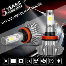 H11 CREE LED Low Beam Headlight Lights Bulbs Kit High Power 6500k White Pair US