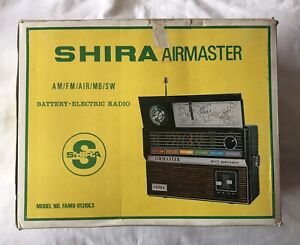 Vintage Retro Airmaster Shira Multi-Band Radio Type Receiver - For Parts Only