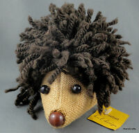 Hedgehog Artist Tag Putzi H L Design Germany Stuffed 6in Rasta Wool Yarn Sacking