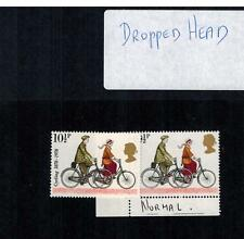 1978 cycling  ERROR  STAMPS WITH  DROP HEADS 10 1/2p SG1068