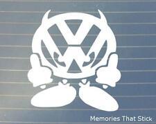 VW VOLKSWAGON Devil Man Car Window Bumper POLO GOLF PASSAT Vinyl Decal Sticker