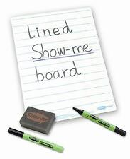 Show Me A4 Drywipe Whiteboard Pale Blue 20mm Lines Semi Rigid Free Pen & Eraser