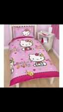HELLO KITTY 'FOLK' SINGLE DUVET COVER SET NEW OFFICIAL
