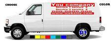 van truck car vinyl lettering custom  vinyl  signs Quantity 2