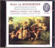 Boismortier 4 harpischord 3 Flute Suites Mireille LAGACE Luc Urbain CD Calliope