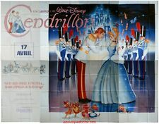 CENDRILLON Cinderella Affiche Cinéma GEANTE / WIDE Poster DISNEY