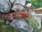 RATTLESNAKE BROAD-HEAD KNIFE LEATHER BACK QUIVER RIGHT HAND 3 POINT HARNESS