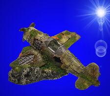 Aquarium Deko ↪ FLUGZEUG WRACK ↩ Propellermaschine Dekoration Zubehör