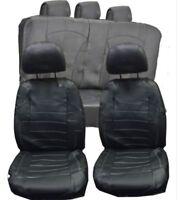 Universal Black Pvc Leather Look Car Seat Covers Split Rears Fits Lexus Cars Suv