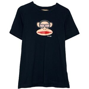 Paul Frank Industries Monkey X-Ray Glasses 2009 Womens Black T-Shirt Size Medium