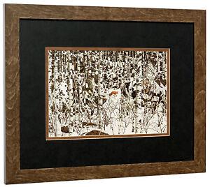 BEV DOOLITTLE  - Woodland Encounter (Detail)  - Matted & Framed Art Print
