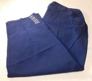 Hearts of Palm Woman Women's Ladies pants Capri Cropped Navy Blue 20W NWT