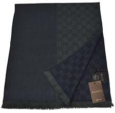 NEW Gucci 344994 Wool Ombre Blue Green GG Guccissima Scarf Muffler