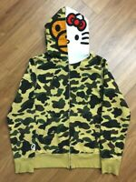 Rare A BATHING APE BAPE x SANRIO HELLO KITTY 1st Camo Hoodie Size M from Japan