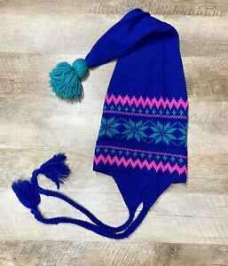 Vtg Original Moriarty Hat Wool Winter Ski Beanie Cap Handcrafted Stowe VT RARE